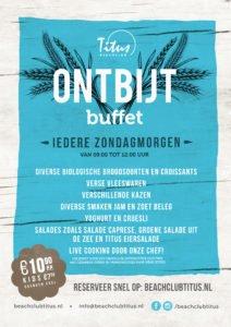 Ontbijt buffet Beachclub Titus Kijkduin